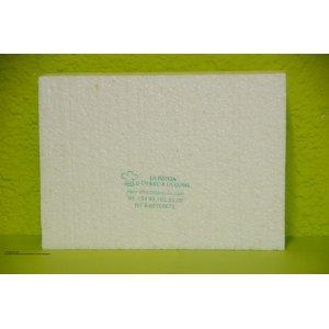 Porexpan base rectangular de 35 cm x 25 cm x 5 cm alçada