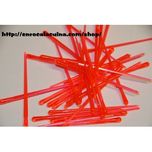Bastonets de plàstic - Vermell 100u