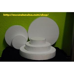 Porexpan base de 39 cm  x 15 cm alçada per pastissos de llaminadures