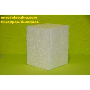 Porexpan soporte para base la golosinas  de 50 cm x 50 cm x 10  cm